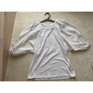 スリーワンフィリップリム(3.1 Phillip Lim)の異素材ミックス ボリューム袖トップス(カットソー(半袖/袖なし))