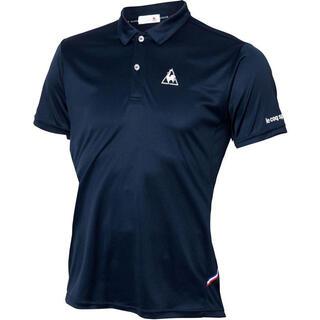 ルコックスポルティフ(le coq sportif)のルコックスポルティフ テニスウェア 半袖ポロシャツQTULJA70ZZ紺メンズM(ウェア)