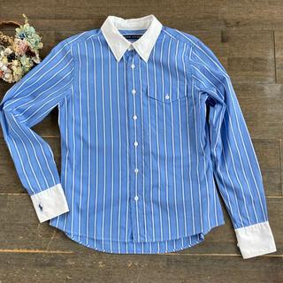 Ralph Lauren - ラルフローレン 160サイズ 刺繍 ストライプシャツ