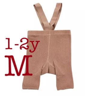 ボンポワン(Bonpoint)のシリーサイラス風 ショート丈サスペンダー付きレギンス ベージュ M(靴下/タイツ)