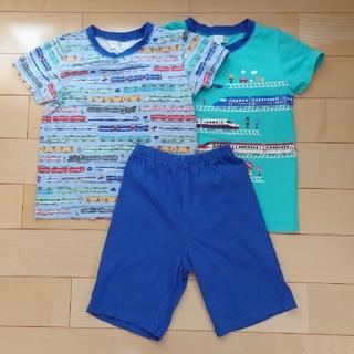 マザウェイズ(motherways)のマザウェイズ 新幹線半袖パジャマ(Tシャツ2枚付き) 120(パジャマ)