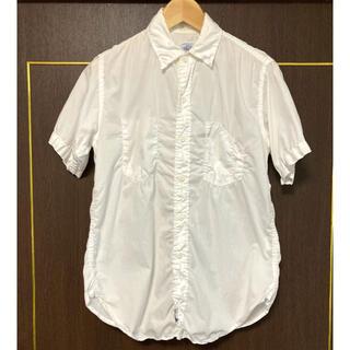 ポストオーバーオールズ(POST OVERALLS)のアメリカ製 POST OVERALLS ポスト 半袖シャツ ホワイト Sサイズ(シャツ)