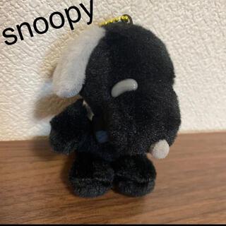 スヌーピー(SNOOPY)の新品 スヌーピー  キーホルダー ぬいぐるみ snoopy 黒 人形 ブラック(キャラクターグッズ)