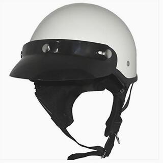 ハーレーダビッドソン(Harley Davidson)のポリスヘルメット ホワイト ハーフJET チョッパー ポリヘル チョッパー(ヘルメット/シールド)