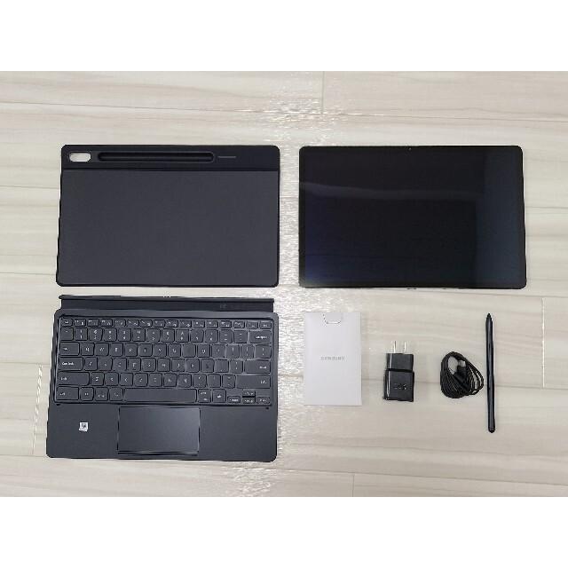 SAMSUNG(サムスン)のGalaxy Tab S7+ 128GB 12.4 ブックカバーキーボード付 スマホ/家電/カメラのPC/タブレット(タブレット)の商品写真