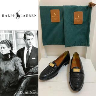 ラルフローレン(Ralph Lauren)のRALPH LAUREN VINTAGE 日本製 クロコダイルレザーローファー(ローファー/革靴)