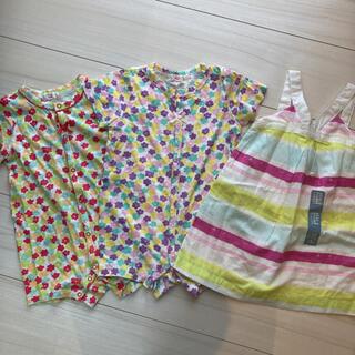 ベビーギャップ(babyGAP)の女の子 夏服 3着セット まとめ売り 80(その他)