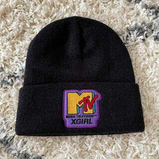 エックスガール(X-girl)のxgirl ニット帽(ニット帽/ビーニー)