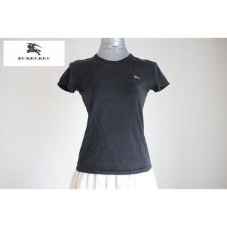 バーバリーブルーレーベル(BURBERRY BLUE LABEL)の送料無料【バーバリー ブルーレーベル】黒 半袖Tシャツ サイズ38(Tシャツ(半袖/袖なし))