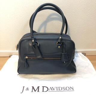 J&M DAVIDSON - J&M DAVIDSON VIVI ハンドバッグ ボストンバッグ ネイビー
