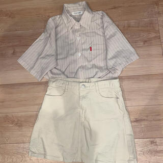 ゴゴシング(GOGOSING)のシャツ スカート(ミニスカート)