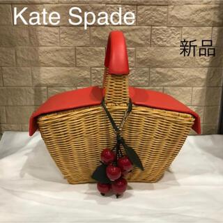 ケイトスペードニューヨーク(kate spade new york)の値下げ新品 ケイトスペードニューヨーク Kate Spade カゴバッグ ラタン(かごバッグ/ストローバッグ)