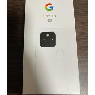 グーグル(Google)のpixel4a 5G ホワイト simロック解除(スマートフォン本体)