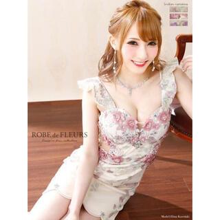エンジェルアール(AngelR)の新品未使用♡ローブドフルール フラワー刺繍チュールタイトドレス(ナイトドレス)