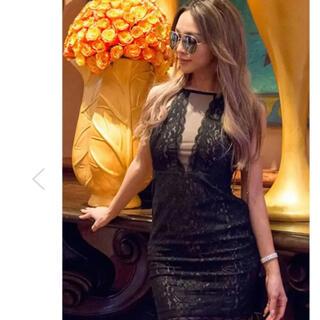 ジェイダ(GYDA)のミラーナイン 完売 レースドレス ワンピース ブラック(ひざ丈ワンピース)