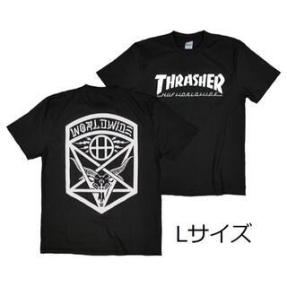 スラッシャー(THRASHER)のスラッシャーT 黒 L スケボー ボード ロックT アウトドア 半袖T(Tシャツ/カットソー(半袖/袖なし))