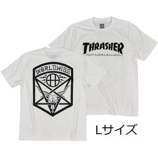 スラッシャー(THRASHER)のスラッシャーT 白 L スケボー ボード ロックT アウトドア  HUF (Tシャツ/カットソー(半袖/袖なし))