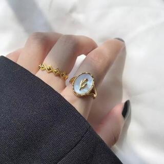 イエナ(IENA)のレトロチューリップリング ゴールド シルバー (リング(指輪))