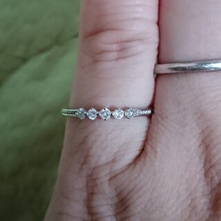 ジュエリーツツミ(JEWELRY TSUTSUMI)のK10WG ダイヤモンドリング 0.11ct  7号(リング(指輪))