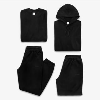 ワンエルディーケーセレクト(1LDK SELECT)のJJJJound  J/90 Black Hoodie sweatpants M(パーカー)