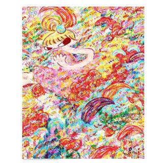 ロッカクアヤコ   魔法の手 展覧会ポスター レア 貴重(絵画/タペストリー)