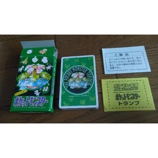 ニンテンドウ(任天堂)のポケットモンスター ポケモン 緑 トランプ 新品(トランプ/UNO)