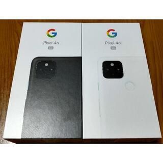 グーグル(Google)のGoogle Pixel4a (5G) 128GB 本体 2台(スマートフォン本体)