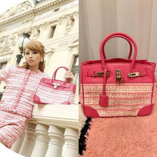 エミリアウィズ(EmiriaWiz)のemiriawiz tweed voyage bag pink(ハンドバッグ)