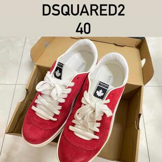 ディースクエアード(DSQUARED2)の赤 スニーカー Dsquared2 ディースク 40(スニーカー)