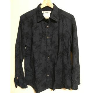 KATHARINE HAMNETT - KATHARINE HAMNETT/刺繍シャツ ネイビー Mサイズ