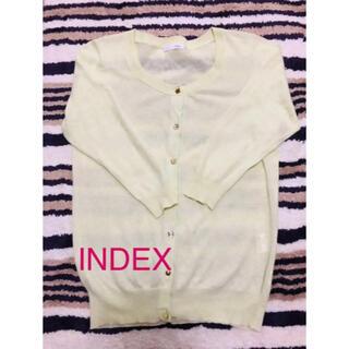 インデックス(INDEX)のワンポイントになるライムカラーの羽織り*カーディガン(カーディガン)