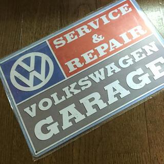 フォルクスワーゲン(Volkswagen)のフォルクスワーゲン Garage ブリキ看板(車外アクセサリ)