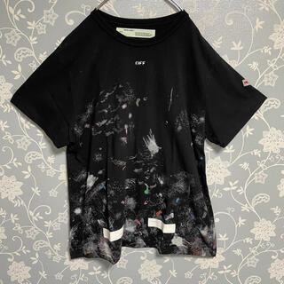 オフホワイト(OFF-WHITE)のoff-white Galaxy logo Tシャツ Mサイズ 黒 ブラック(Tシャツ/カットソー(半袖/袖なし))
