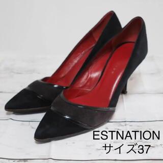 エストネーション(ESTNATION)のESTNATION 黒のハイヒール サイズ37(ハイヒール/パンプス)