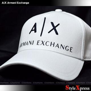 アルマーニエクスチェンジ(ARMANI EXCHANGE)の新品 アルマーニエクスチェンジ 白 定番ロゴ キャップ CAP 帽子 説明必読(キャップ)