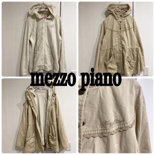 メゾピアノジュニア(mezzo piano junior)のメゾピアノ 美品 パーカー付き アウター スプリングコート(ジャケット/上着)