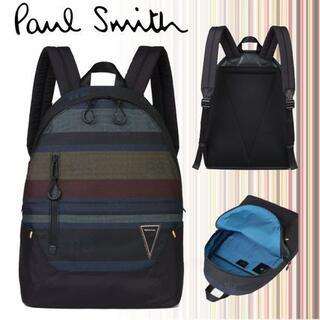 ポールスミス(Paul Smith)の新品☆PS Paul Smith バック パック リュック☆マルチ&ブラック(バッグパック/リュック)