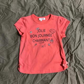 サンカンシオン(3can4on)のTシャツ 100㎝ オレンジ(Tシャツ/カットソー)