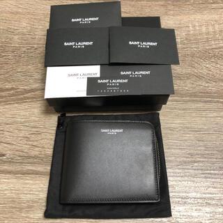 Saint Laurent - 美品 サンローラン イースト/ウェスト ジップウォレット 二つ折り財布