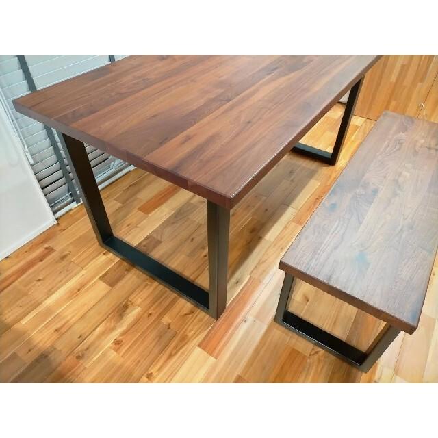 ACTUS(アクタス)の【引取り条件】ACTUS FJシリーズ ダイニング テーブル ベンチ セット インテリア/住まい/日用品の机/テーブル(ダイニングテーブル)の商品写真
