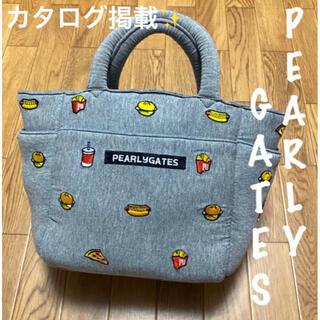 パーリーゲイツ(PEARLY GATES)の美品⛳️パーリーゲイツ ハンバーガー刺繍 カートバッグ ラウンドバッグ(バッグ)