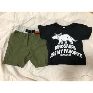 ニシマツヤ(西松屋)の90サイズ Tシャツ、ハーフパンツセット(Tシャツ/カットソー)