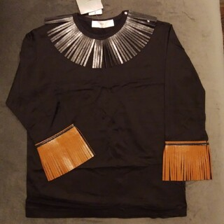 トーガ(TOGA)のTOGA PULLA トーガプルラ フリンジ 長袖Tシャツ カットソー(カットソー(長袖/七分))
