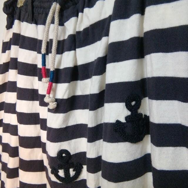 rough(ラフ)の最終値下げ新品★rough★ボーダーマリンスカート レディースのスカート(ひざ丈スカート)の商品写真