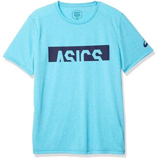 アシックス(asics)のasics アシックス 半袖シャツ CAモクショートスリーブトップ青メンズM新品(ウェア)