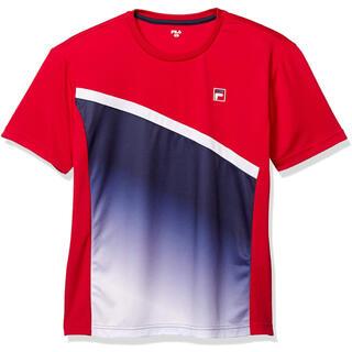 フィラ(FILA)のFILA フィラ テニスウェア 半袖Tシャツ VM7001 レッド メンズM新品(ウェア)