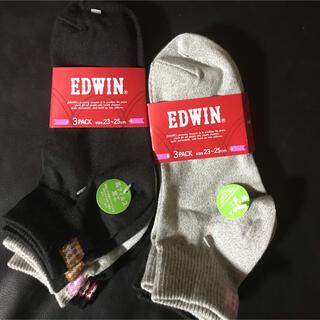 EDWIN - EDWIN 靴下6足+(1足プレゼント)=7足  23〜25cm 抗ウィルス加工