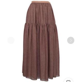ドゥロワー(Drawer)の新品未使用 drawer2021 シルクカットジャガードスカート サイズ36(ロングスカート)