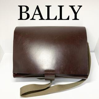 バリー(Bally)の【バリー】レザー フラップ ショルダーバッグ【保管袋付き】(ショルダーバッグ)