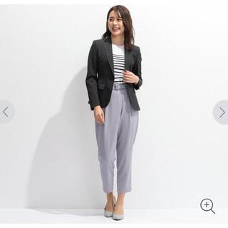 AOKI - 値下げ❣️今季新品⭐️AOKI ベルト付きタック入りクロップドパンツ ラベンダー